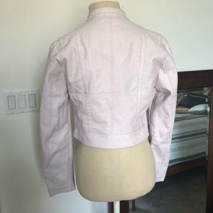 Guess Jackets & Coats - Guess light pink cropped leather jacket